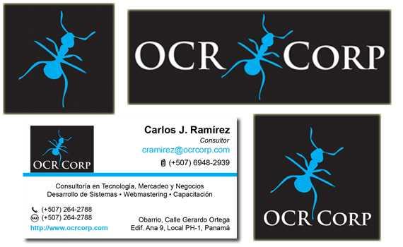 Diseño de imagen corporativa para OCR Corp, Panama   Mediabros.com