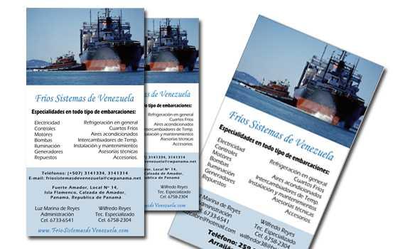 Diseño de tarjetas de presentación para Frios Sistemas de Venezuela   Mediabros.com